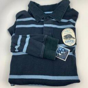ENYCE Horizontal stripes Blue Casual Shirt Sz XL P